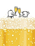 Paare u. Champagner Lizenzfreie Stockfotos