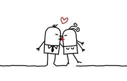 Paare u. Kuss stock abbildung