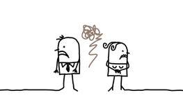 Paare u. Zorn stock abbildung