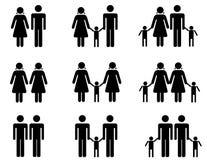 Paare und Annahme Lizenzfreie Stockfotografie