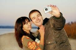 Paare und Kamera Lizenzfreie Stockbilder