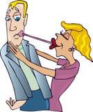 Paare und Kuss mit Gummi Lizenzfreie Stockfotos