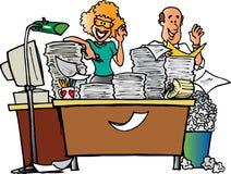 Paare und unordentlicher Schreibtisch Lizenzfreie Stockfotos