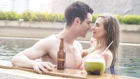 Paare Unterwäschebikini-Bonbon lo des Mannes und des Mädchens sexy in Mode Lizenzfreie Stockfotografie