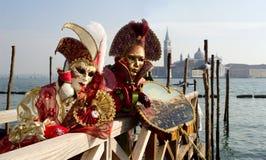 Paare vom Venedig-Karneval Lizenzfreies Stockfoto