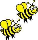 Paare von Bienen Stockfotografie