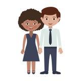 Paare von Erwachsenen mit den Händen entwirrt Lizenzfreies Stockfoto