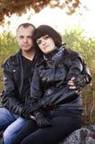 Paare von Liebhabern Stockfotografie