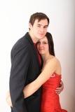 Paare von Liebhabern in der Abendgarderobe Lizenzfreies Stockbild
