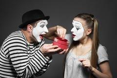Paare von Pantomimen lizenzfreie stockfotos