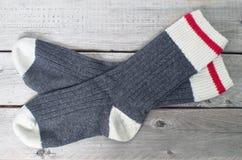 Paare Wollsocken Lizenzfreies Stockbild