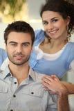 Paare zu Hause stockfotografie