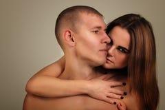 Paarheterosexueller in der Liebe Lizenzfreie Stockfotos