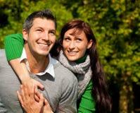 Paarpaare im Freien Stockfotografie