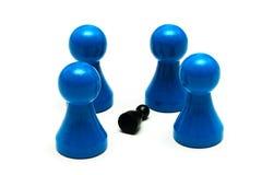 Paarspiel stellt unterschiedliche Meinung dar Stockbild