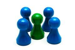 Paarspiel stellt unterschiedliche Meinung dar Stockfotos