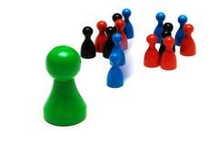 Paarspiel stellt unterschiedliche Meinung dar Stockbilder