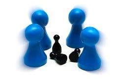 Paarspiel stellt unterschiedliche Meinung dar Lizenzfreies Stockbild