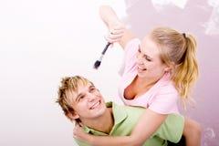 Paarspielen Stockfoto