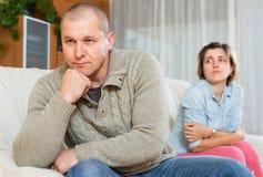 Paarstreit zu Hause Lizenzfreies Stockfoto