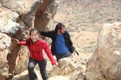 Paarwandern Stockfoto