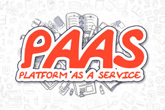 PaaS - Doodle Red Word. Business Concept. Stock Images
