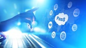 PaaS - plataforma como un servicio, una tecnología de Internet y concepto del desarrollo imagen de archivo libre de regalías