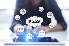 PaaS, Platform as a Service. Internet and networking concept. royalty free stock photos