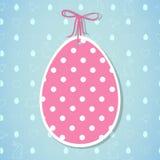 Paasei en het naadloze patroon van Pasen met eieren, konijnen, vogels Stock Afbeeldingen