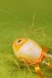 Paasei met bloem Stock Foto