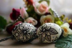 Paasei met bloem Royalty-vrije Stock Afbeelding