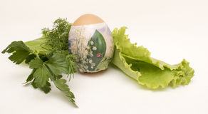 Paasei met groenten Stock Afbeeldingen