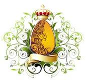 Paasei met lint en kroon Royalty-vrije Stock Afbeelding