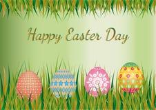Paasei op Pasen-achtergrond Stock Fotografie
