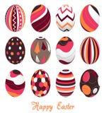 Paaseieren, gelukkige Pasen stock illustratie