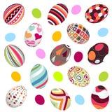 Paaseieren, gelukkige Pasen vector illustratie