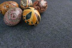 Paaseieren met ornament Stock Fotografie