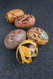 Paaseieren met ornament Stock Afbeelding