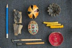 Paaseieren met ornament Royalty-vrije Stock Afbeelding