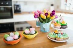 Paaseieren in mooie keuken Royalty-vrije Stock Fotografie