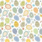 Paaseieren naadloos patroon stock afbeelding