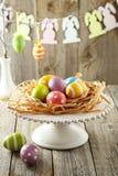 Paaseieren in nest Stock Foto