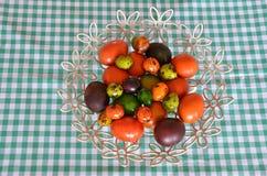 Paaseieren in Trillende Kleuren Royalty-vrije Stock Foto