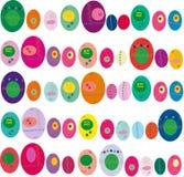 paaseieren veelkleurige achtergrond Stock Fotografie