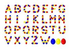 Paaseierenalfabet vector illustratie