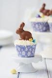 Paashaas cupcakes stock afbeelding