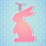 Paashaas en naadloos patroon met eieren, konijnen, vogels, hea Stock Foto
