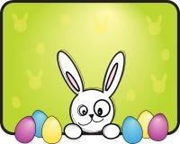 Paashaas met eieren stock illustratie
