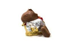Paashaas van chocolade wordt gemaakt die Stock Foto's