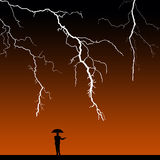 Passing storm. Waiting for the storm to pass Royalty Free Stock Photography